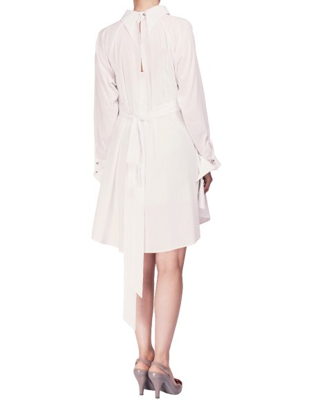 White Cotton Shirt Dress