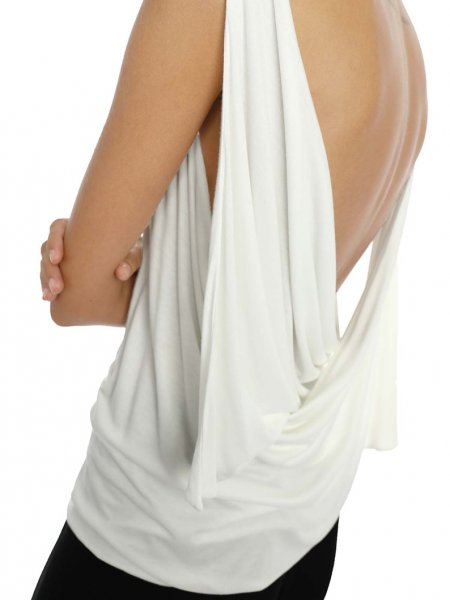 White Draped Top