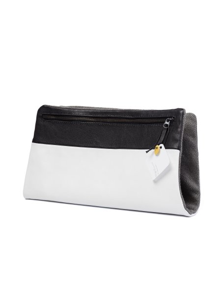 White Leather Envelope Bag