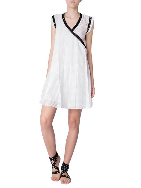 White Pleated Summer Dress