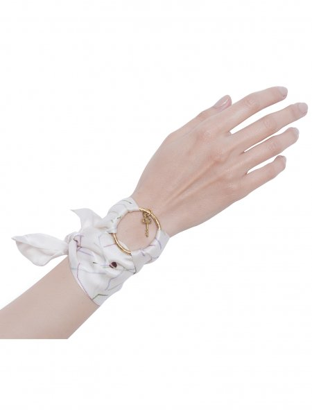 White Pure Silk Bracelet