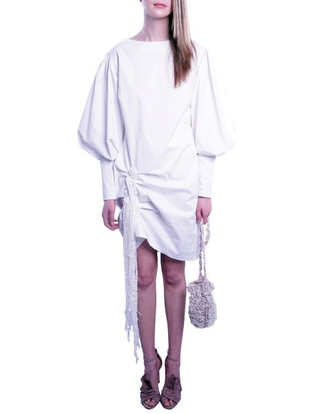 White Stretchy Cotton Dress