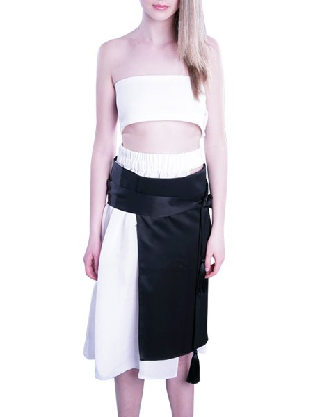 Wrapped Asymmetric Skirt