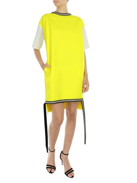 Yellow Midi Dress With Strings